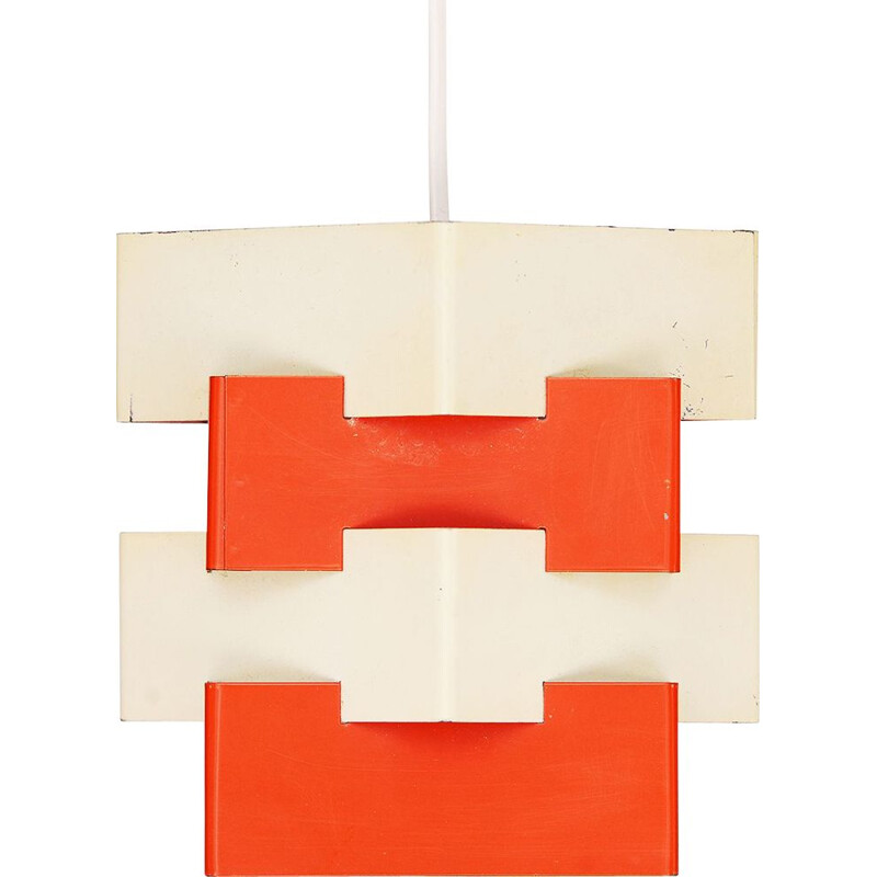 "Vintage Metal pendant light ""Nift"" by Kronobergsbelysning, Sweden 1960s"
