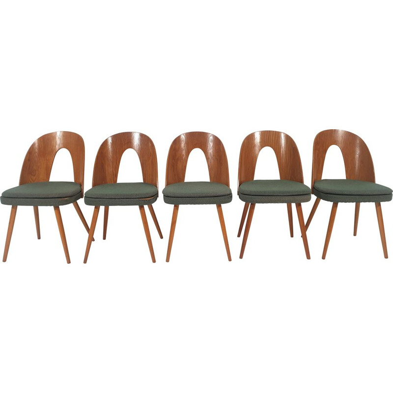 Set of 5 vintage Dining Chairs by Antonín Šuman 1960s