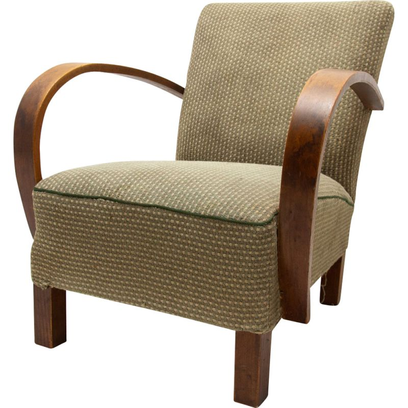 Vintage Bentwood armchair by Jindřich Halabala for UP Závody, 1950s