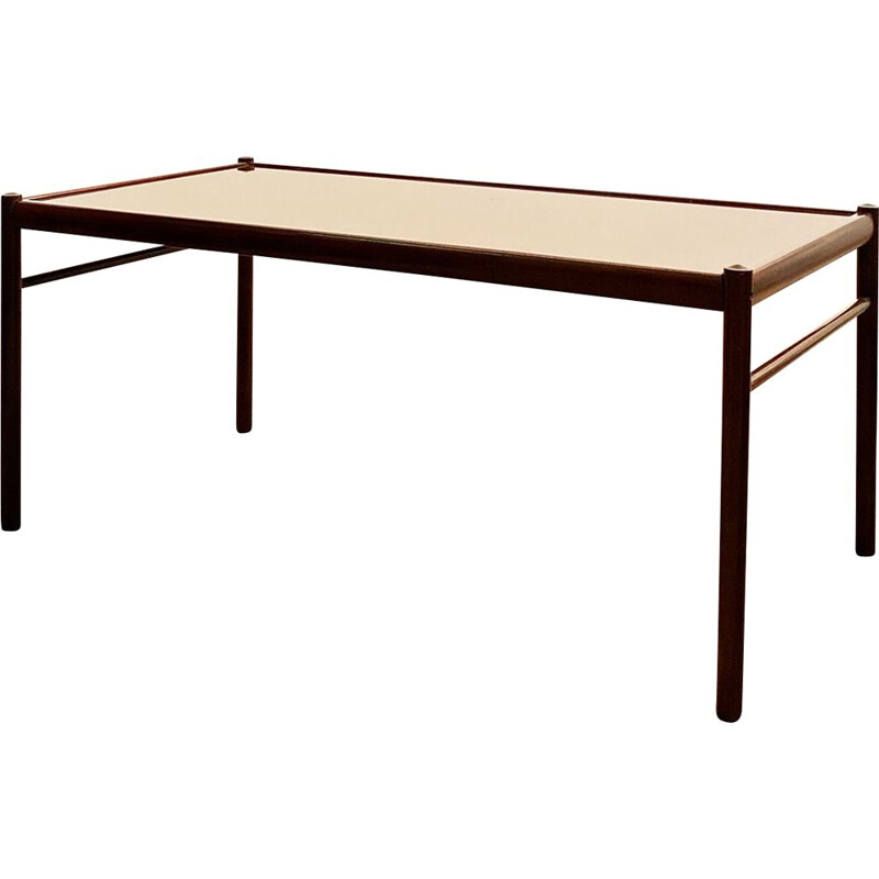 Mid Century Colonial Coffee Table in Mahogany by Ole Wanscher for Poul Jeppensen, 1950s