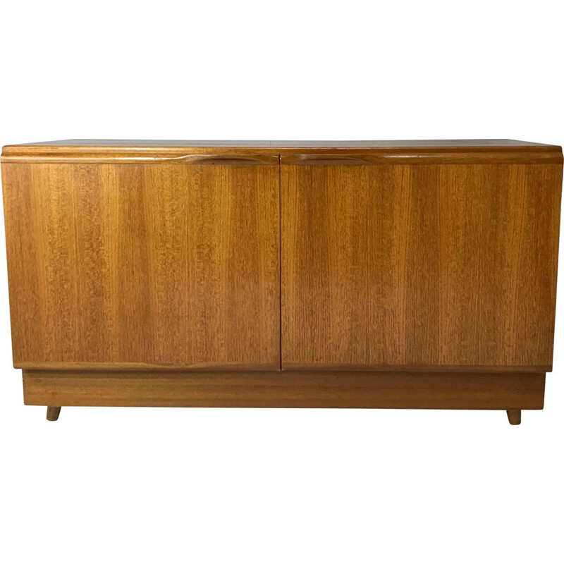 Mid century compact low sideboard English 1970s