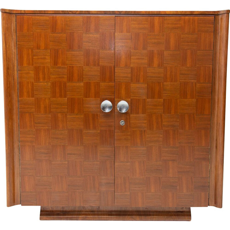 Vintage cabinet by Jindřich Halabala for ÚP Závody, Fully restored art deco 1950s