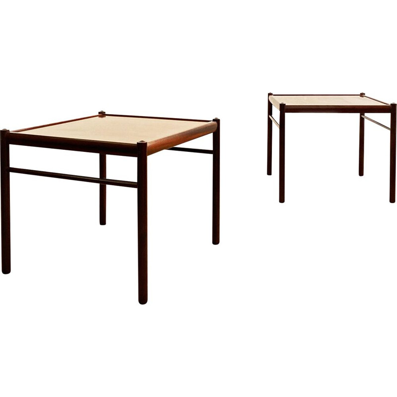 Pair of Mid Century Colonial Coffee Table in Mahogany by Ole Wanscher for Poul Jeppensen, 1950s
