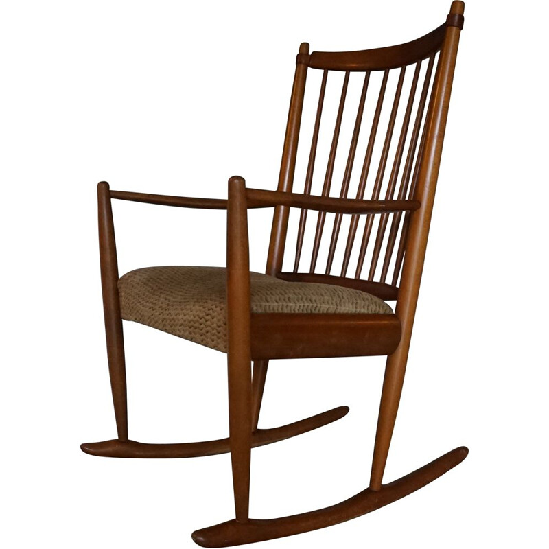 Vintage Rocking Chair by Niels Eilersen 1950s