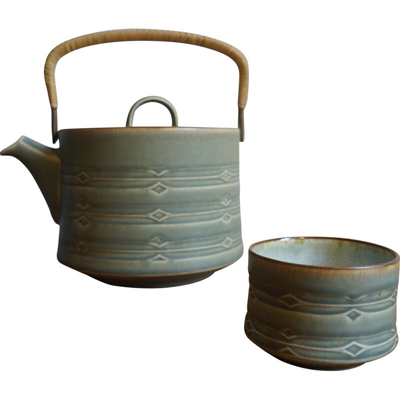 Pair of vintage Teapot & Sugar Bowl by Jens Harald Quistgaard for Bing & Grondahl & Nissen 1960s