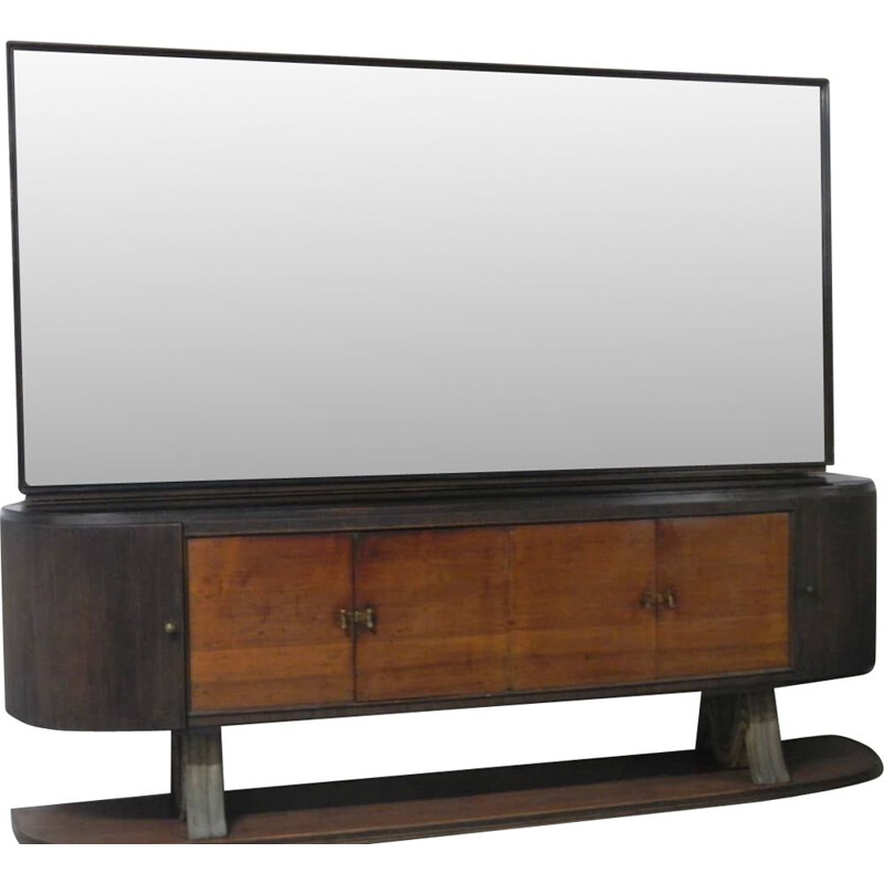 Vintage Paolo Buffa sideboard and mirror