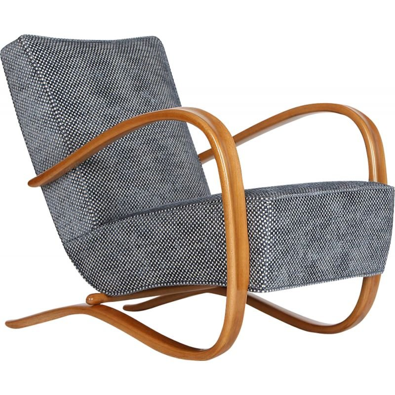 Vintage Streamline Chair H-269 by Jindrich Halabala for Spojene UP Zavody 1930s