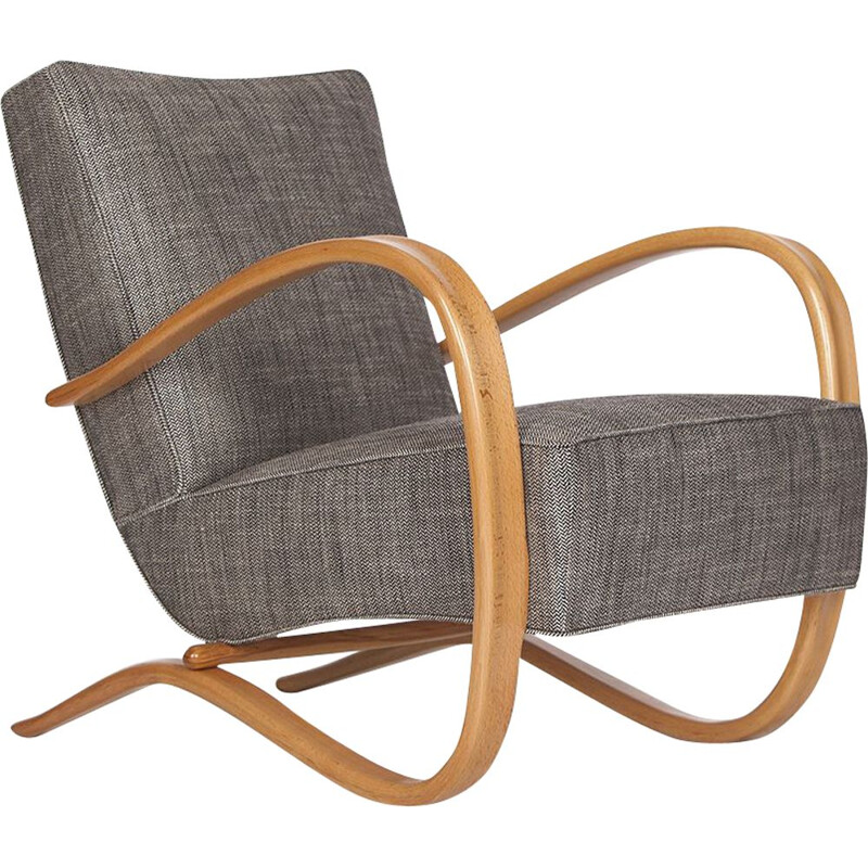 Vintage Streamline Chair H-269 by Jindřich Halabala for Spojene UP Zavody 1930s