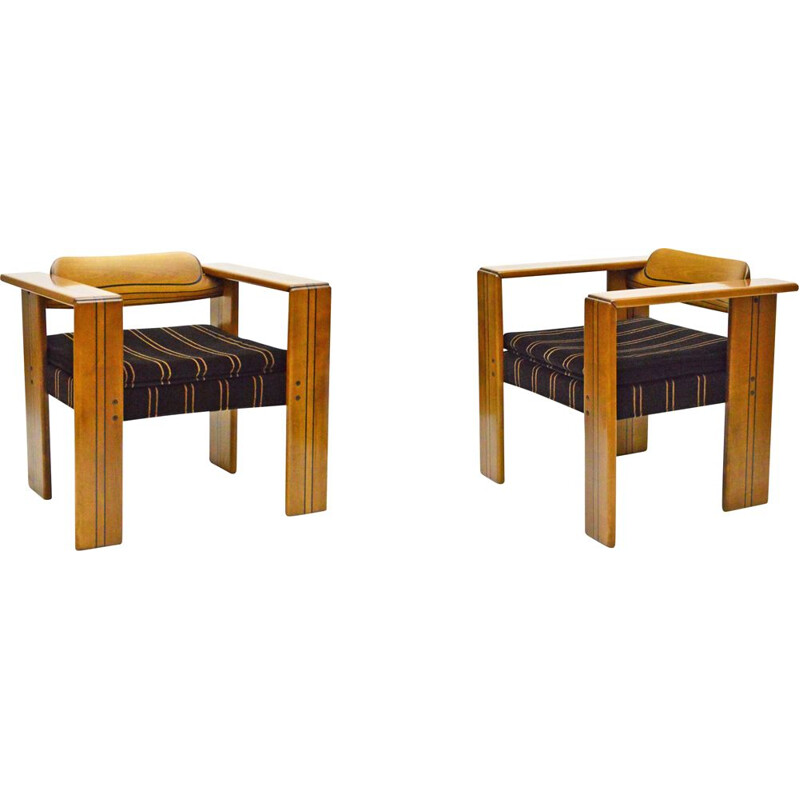Pair of vintage Armchairs The Artona By Afra And Tobia Scarpa For Maxalto 1975s
