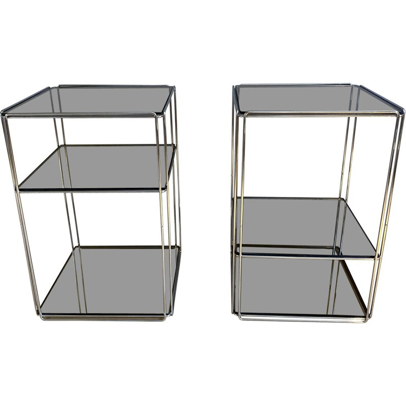 Pair of vintage Isocele side tables by Max Sauze, France 1970s
