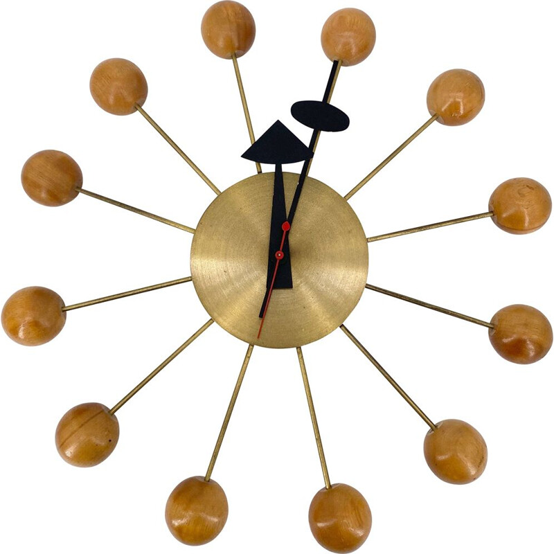 Vintage George Nelson wall clock by Howard Miller 1955s
