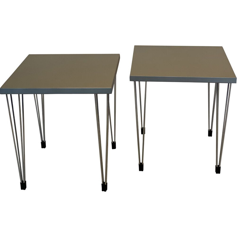 Pair of 'PinAge' Side Tables by fritz hansen Danish 1970s