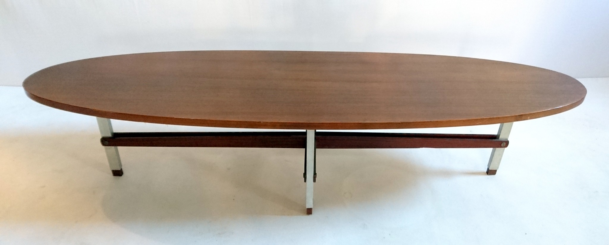 Italian Oval Teak Coffee Table 1960s Previous Next