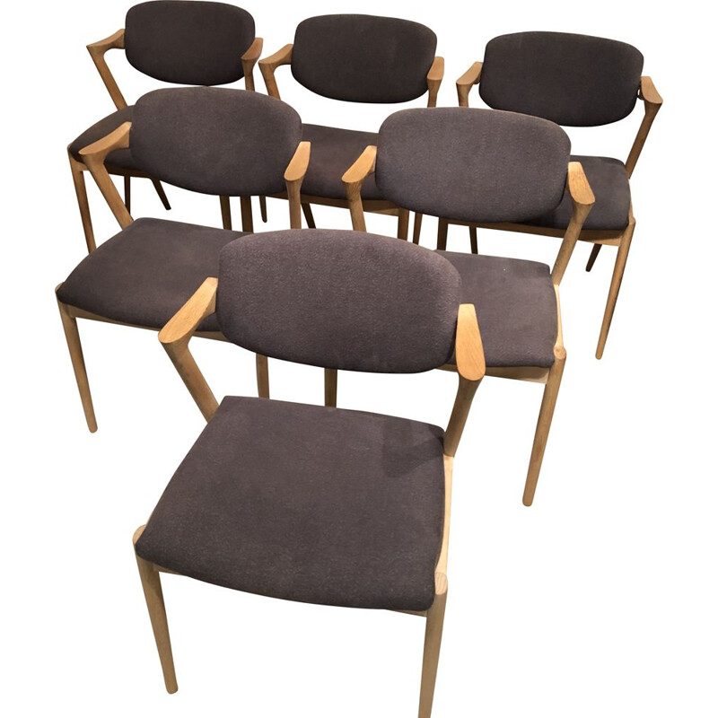 Set of 6 small vintage armchairs by Kai Kristiansen, Danish 1960s
