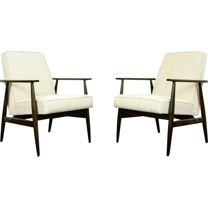 Pair of vintage Armchairs Type 300-190 By H. Lis, Poland 1960s