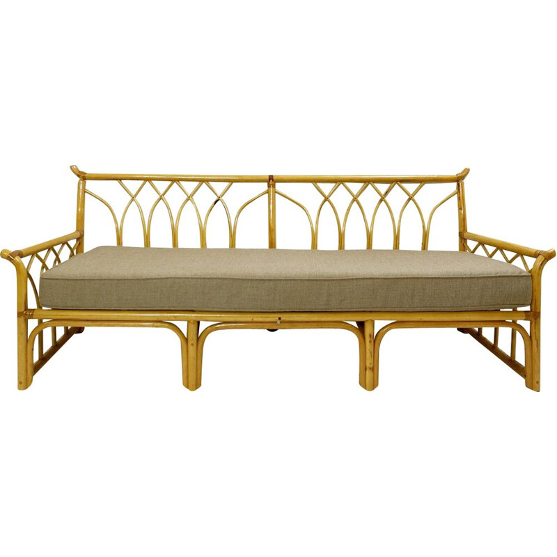 Vintage bamboo bench