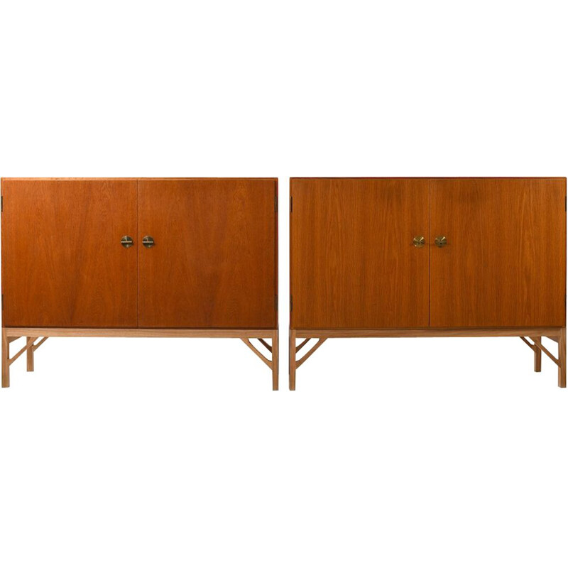 Pair of vintage Cabinets Model 232 by Borge Mogensen for FDB Mobler 1965s