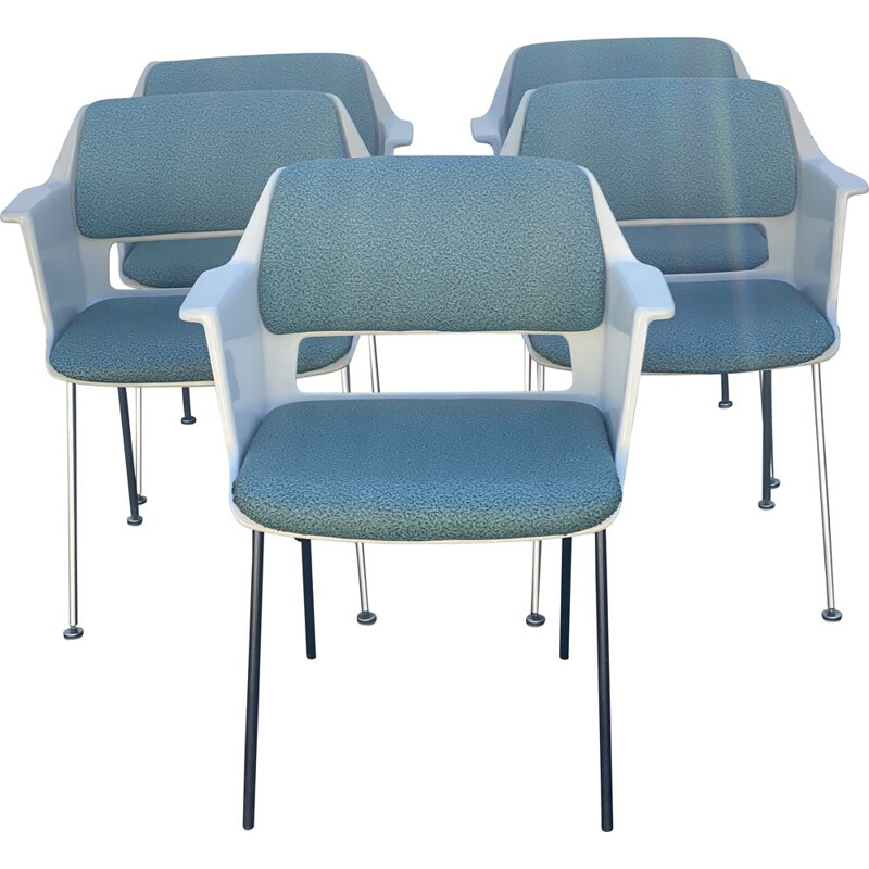 Set of 5 vintage Gispen Chairs from Andre Cordemeyer 1960s