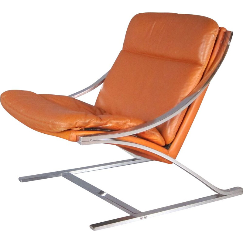 Vintage Zeta lounge chair by Paul Tuttle for Strässle International 1968