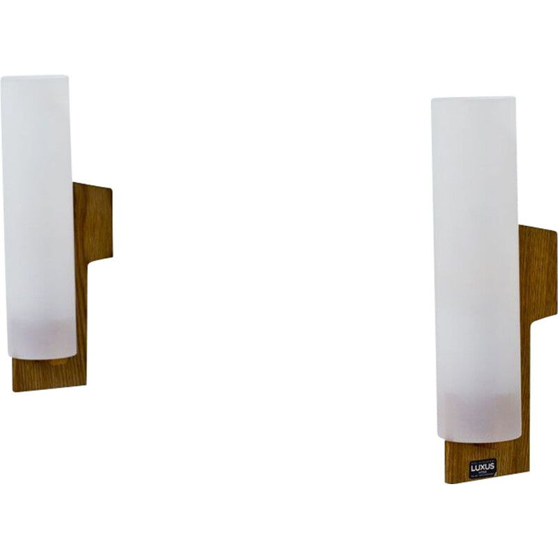 Pair of vintage sconces by Uno and Östen Kristiansson for Luxus, Sweden 1960