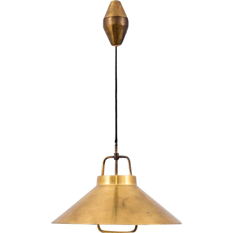 Vintage Brass Pendant by Fritz Schlegel for Lyfa, Danish