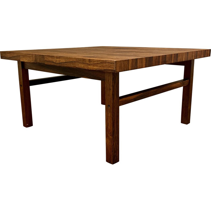 Vintage rosewood coffee table by Kai Kristiansen for Branin, Scandinavian 1950s