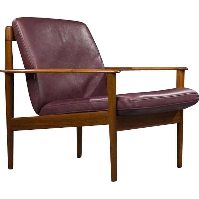 Vintage Model 56 Lounge Chair by Grete Jalk for P. Jeppesens, Danish 1960s