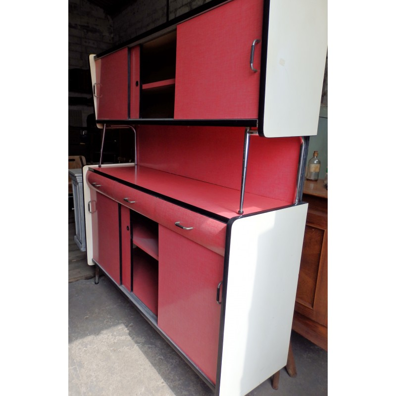 Mid Century Pink Kitchen Cabinet In Formica 1960s Design Market