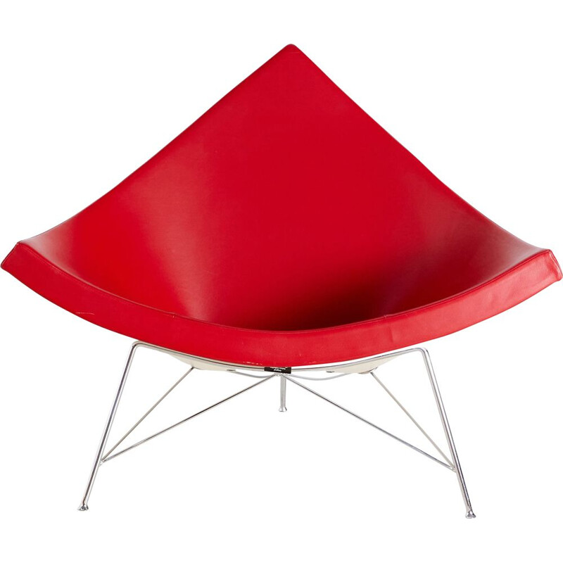 Vintage Red Coconut Chair by George Nelson for Vitra 1955