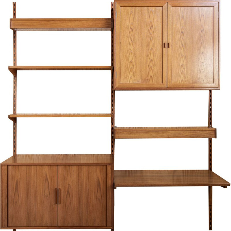 Vintage wall system in teak by Kai Kristiansen for FM, Denmark 1950s
