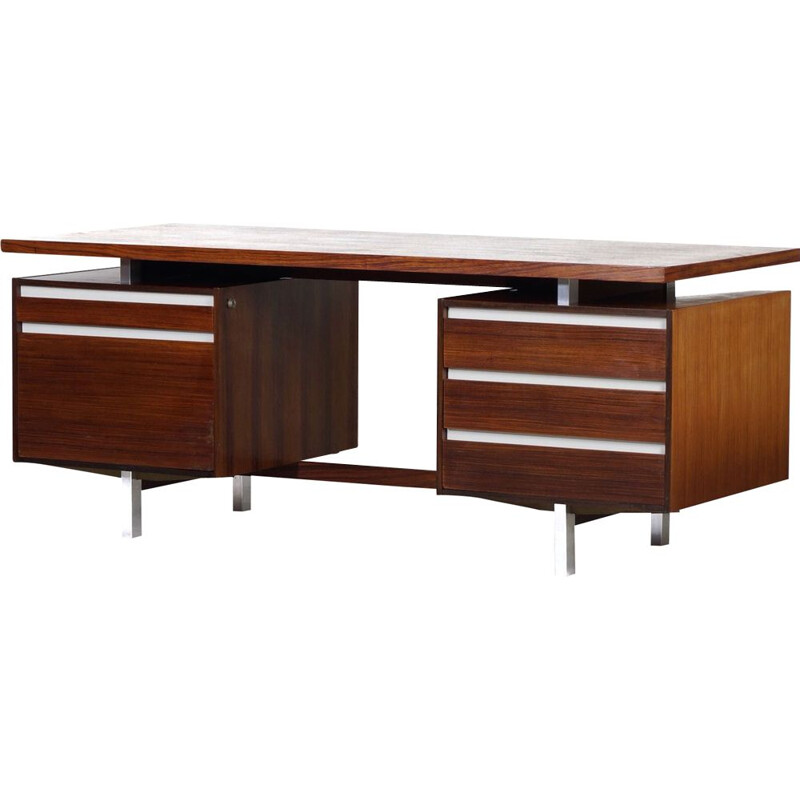 Vintage rosewood desk by Kho Liang Ie for Fristho 1956