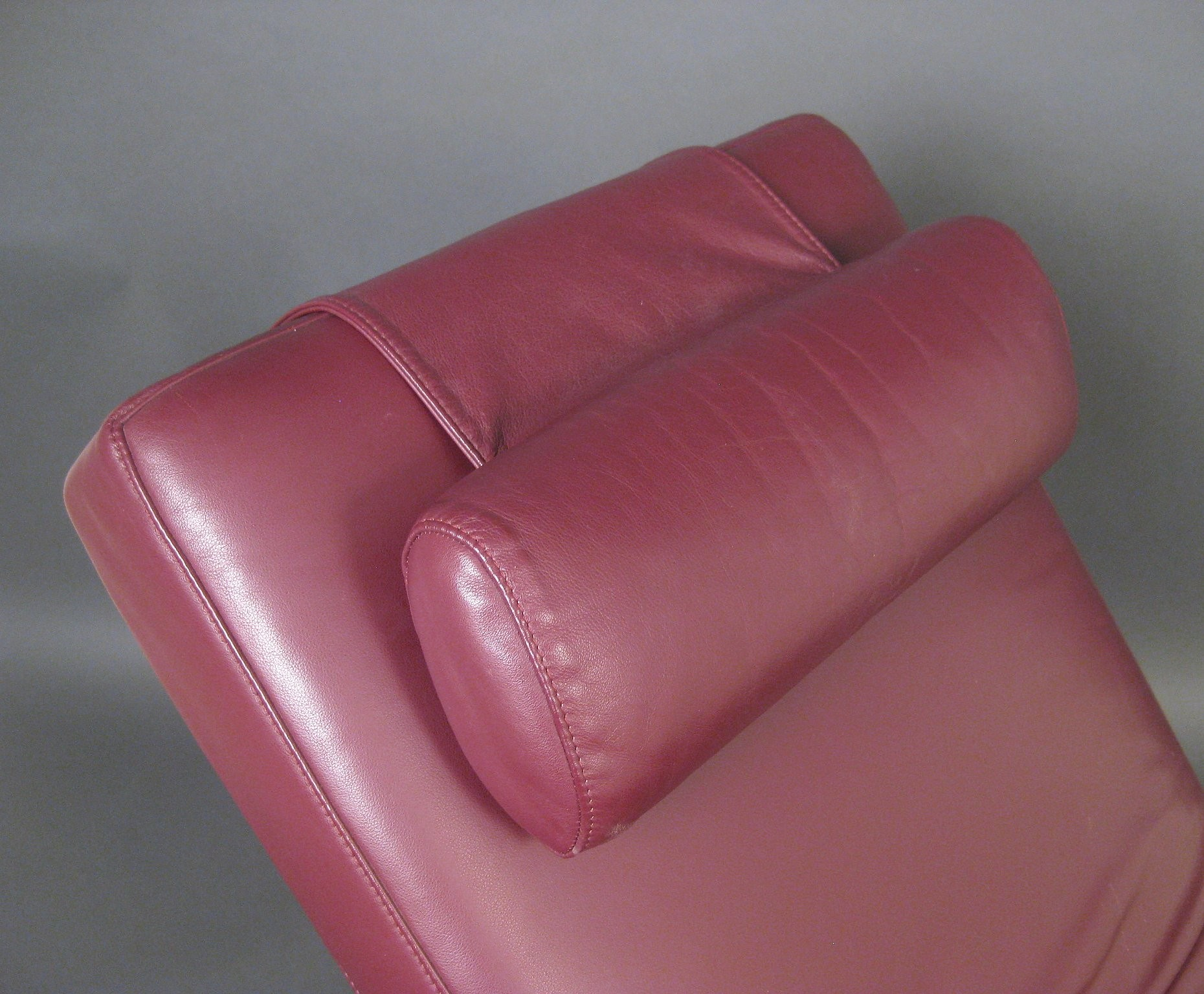 Basix 680 Deckchair In Pink Leather Rolf Benz 1970s Design