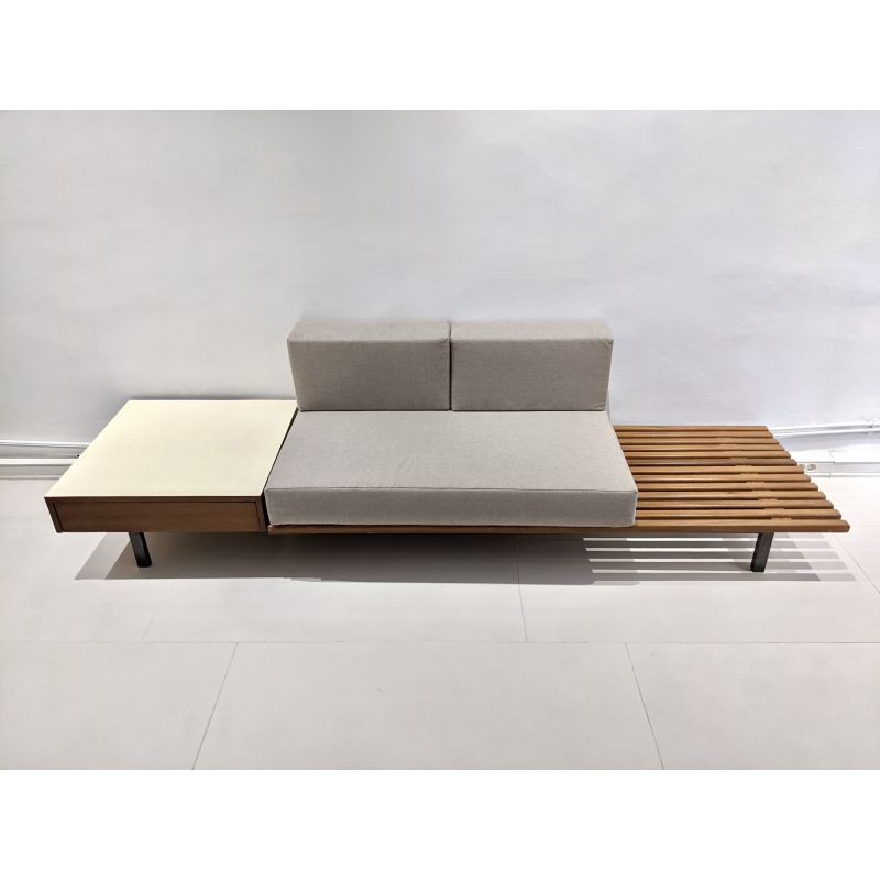 Vintage Cansado box seat by Charlotte Perriand 1954