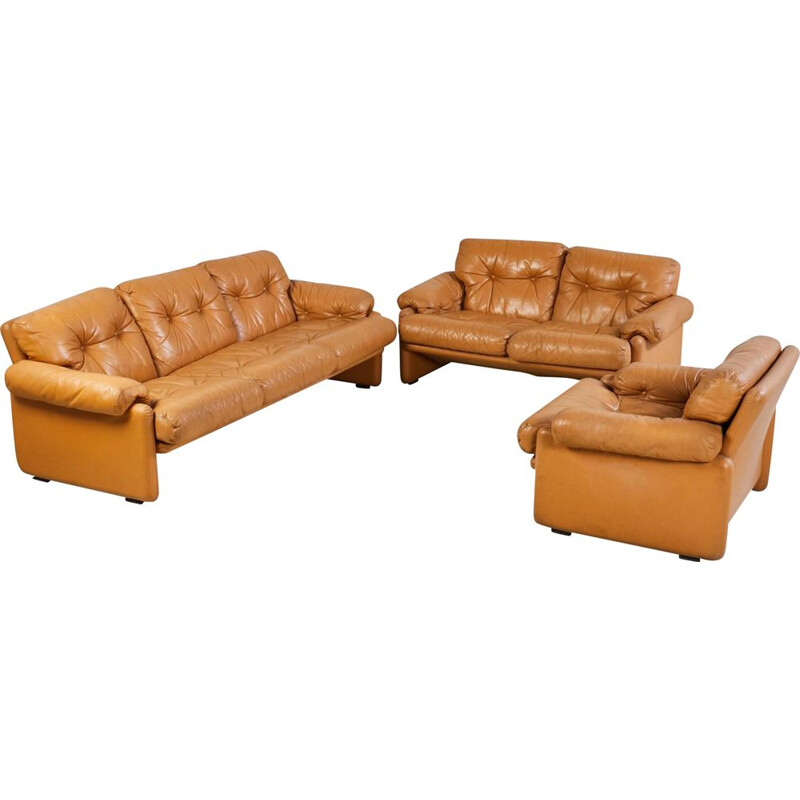 Vintage Coronado Sofa Set by Afra and Tobia Scarpa for B&B, Italy 1960s