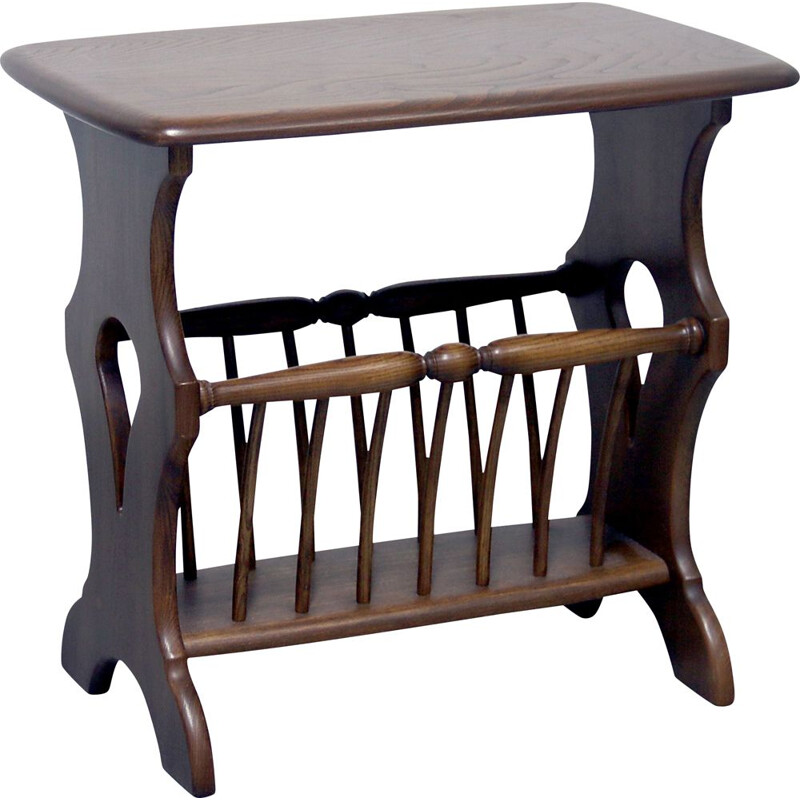 Vintage Ercol Chaucer magazine rack & side table 1980s
