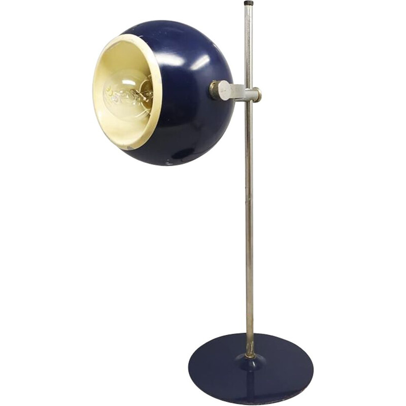 Vintage Blue Space Age Table Lamp 1970s