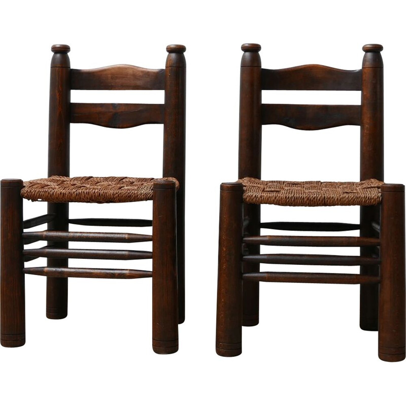 Pair of vintage Charles Dudouyt Occasional Chairs, French 1930s