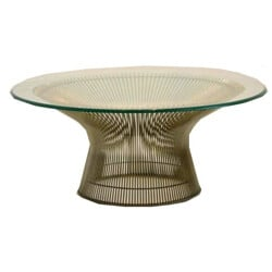 """Knoll """"1725A"""" coffee table in metal and glass, Warren PLATNER - 1970s"""