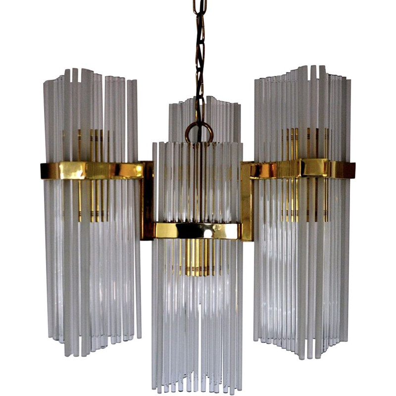 Vintage chandelier by Gateano Sciolari for Ligholier, Italy 1970s