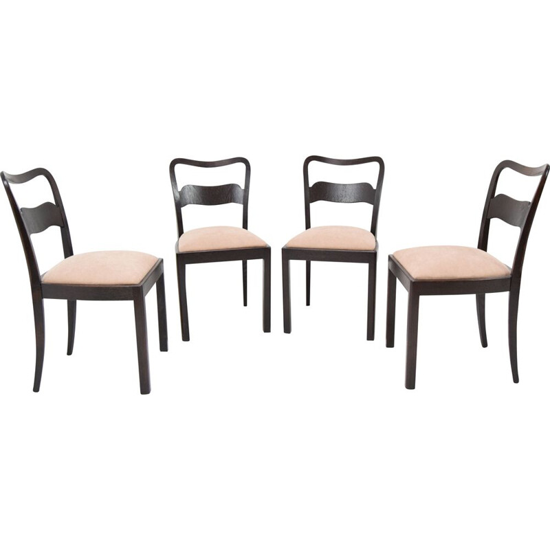Set of 4 vintage Chairs by Jindrich Halabala,Czechoslovakia 1940s