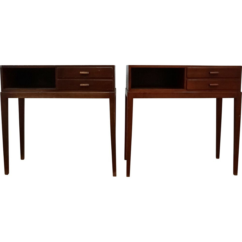 Pair of vintage 1615A Nightstands by Frits Schlegel for Fritz Hansen