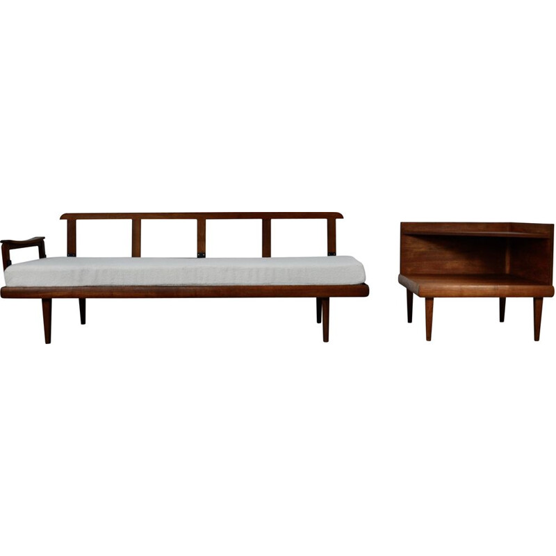Vintage Edvard & Tove Kindt Larsen sofa and corner table set for Gustav Bahus