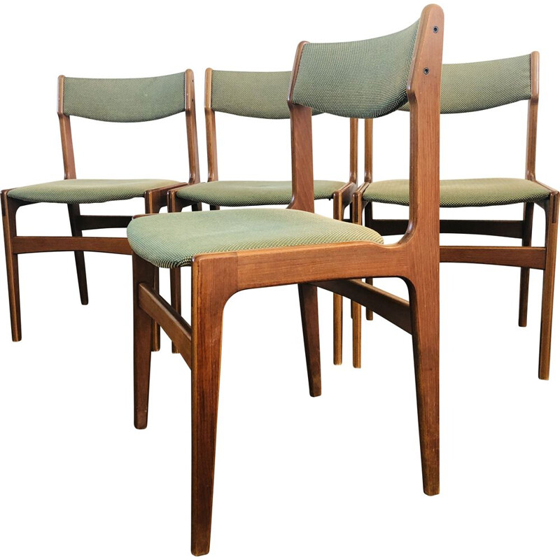 Set of 4 vintage Dining Chairs by Erik Buch For O.D. Mobler, Danish 1960s