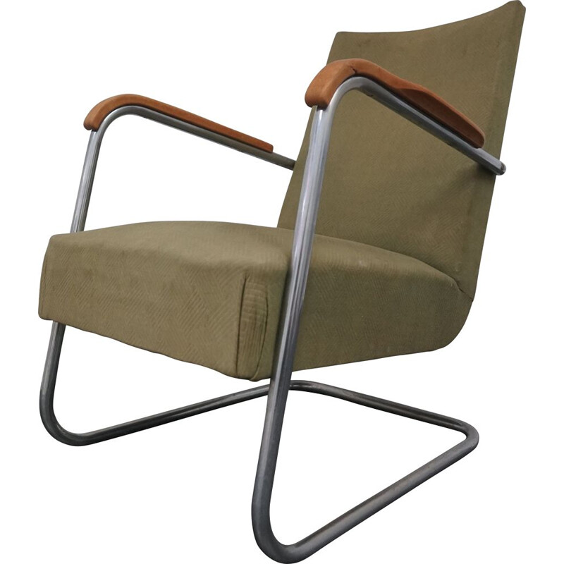 Vintage Frits Schlegel Steel Tube Chair by Fritz Hansen 1930s