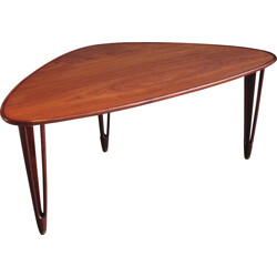 Tripod coffee table in teak, BC Mobler - 1950s