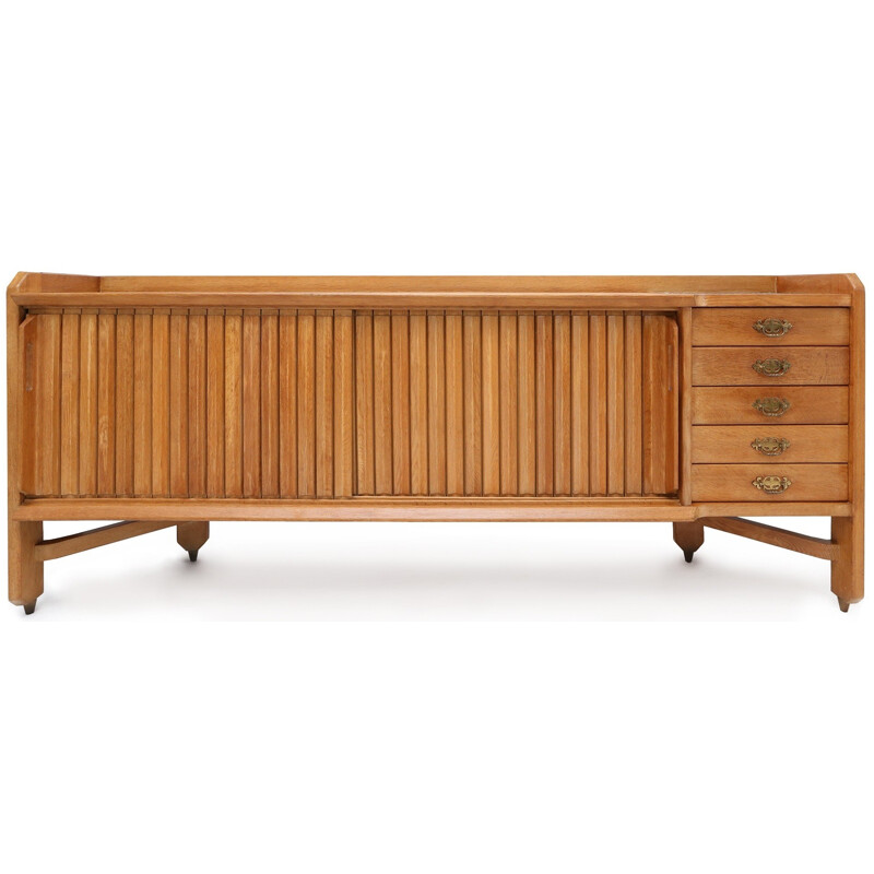 French sideboard  in oak, GUILLERME and CHAMBRON - 1960s