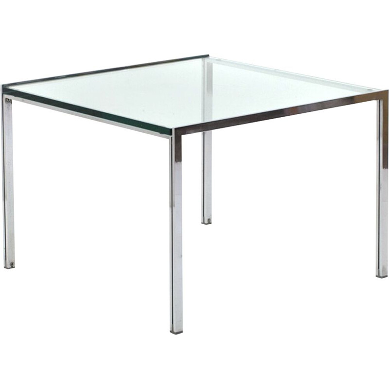 """Vintage """"Luar"""" coffee table with glass top by Ross Little for ICF 1970s"""