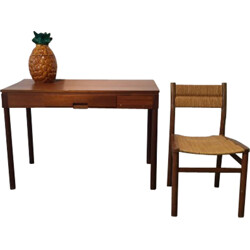Desk and chair in teak, Pierre GAUTIER DELAYE - 1957