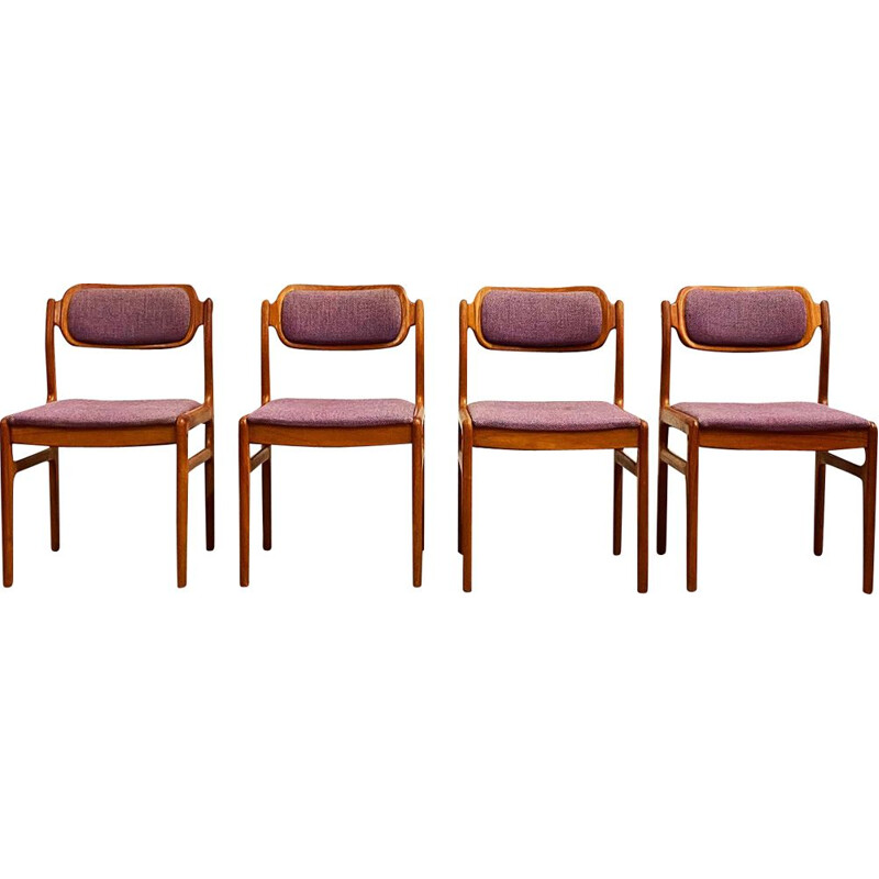 Set of 4 vintage Teak Dining Chairs by Johannes Andersen for Uldum, Denmark 1960s