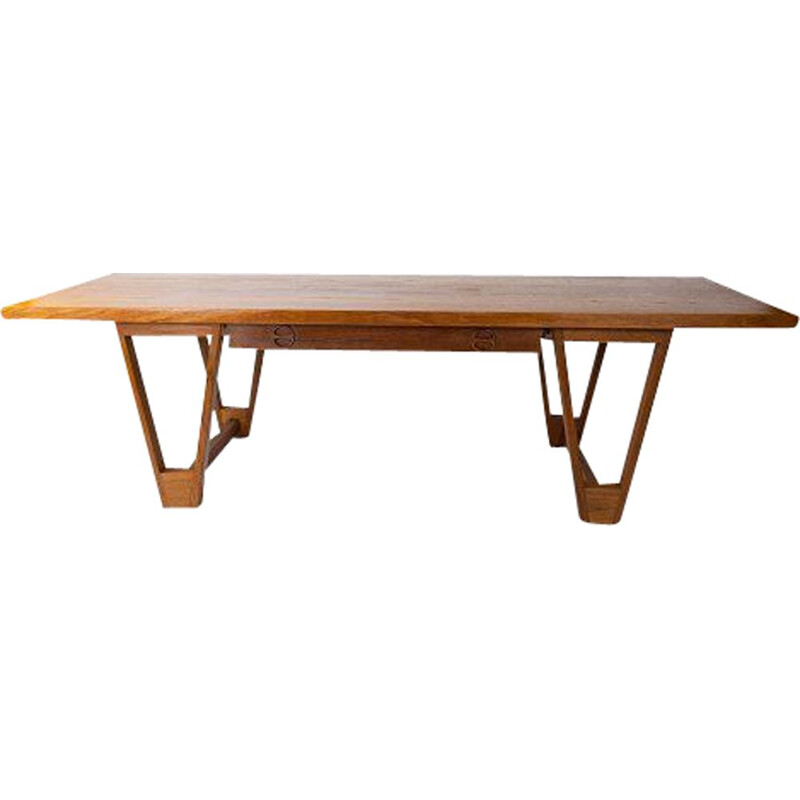 Vintage Coffee table in teak by Illum Wikkelso 1960s